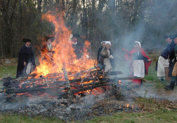The Burning of the tea nbsp