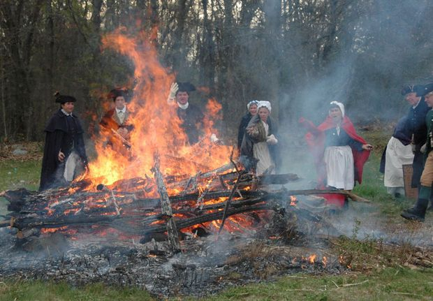 The Burning of the tea nbsp